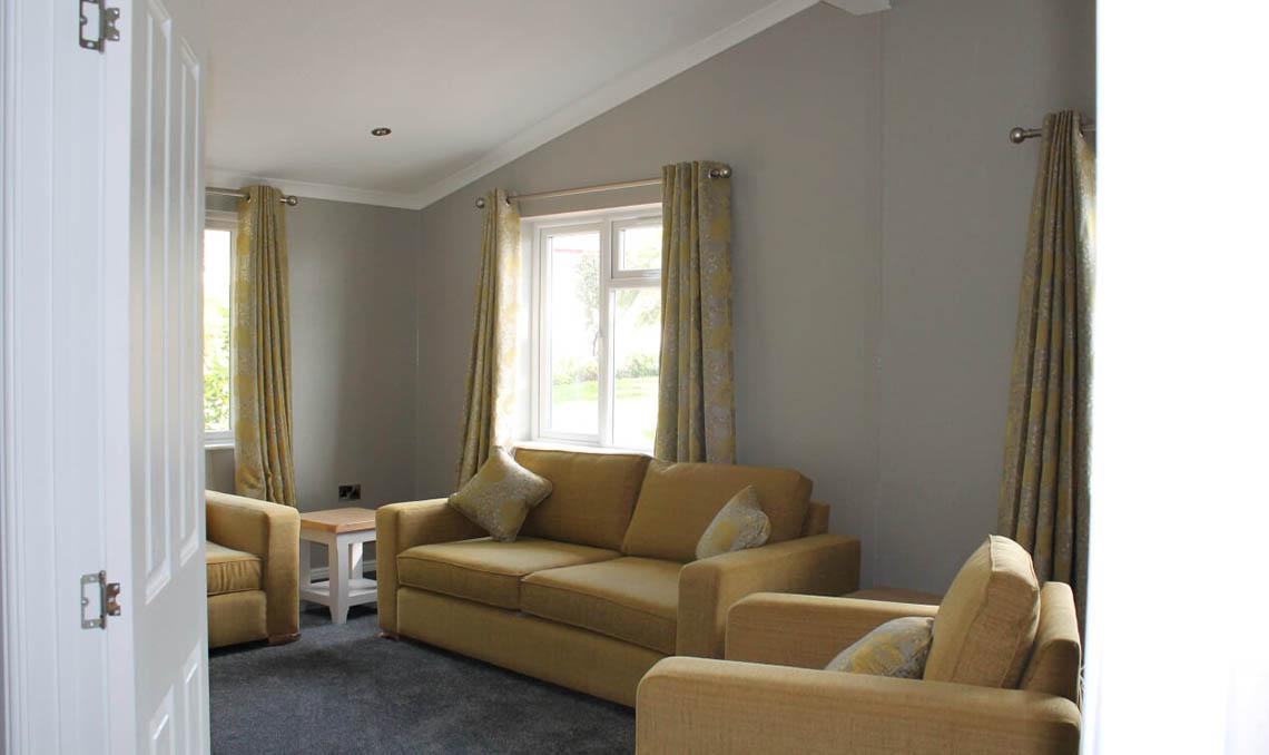 Spacious Park Home Living Area